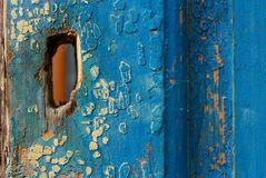 Textura de madeira azul abstraia o fundo Foto de Stock Royalty Free
