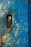 Textura de madeira azul abstraia o fundo Imagens de Stock Royalty Free