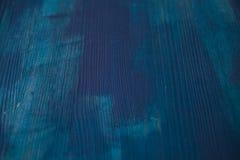Textura de madeira azul Fundo da madeira dos azuis marinhos Ideia do close up da textura e do fundo de madeira azuis Fotos de Stock