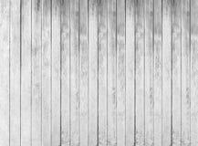 Textura de madeira branca de placas ásperas da cerca Imagens de Stock