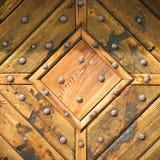 Textura de madeira com hobnails imagens de stock