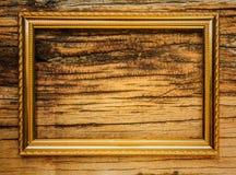 Textura de madeira com moldura para retrato Fotografia de Stock
