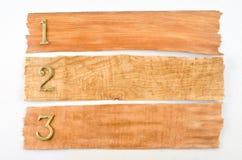 Textura de madeira com números Imagem de Stock Royalty Free