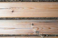 Textura de madeira com teste padrão natural do pinho Fotografia de Stock