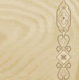 Textura de madeira com um teste padrão Foto de Stock Royalty Free