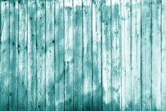 Textura de madeira da parede no tom ciano imagens de stock royalty free