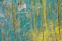 Textura de madeira da pintura Flaky Imagens de Stock Royalty Free