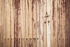 Textura de madeira da porta Fotografia de Stock