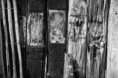 Textura de madeira da praia de UTÁ Fotografia de Stock Royalty Free