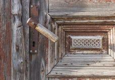Textura de madeira das portas do vintage velho Fotos de Stock