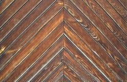 Textura de madeira de Brown das placas Imagens de Stock Royalty Free