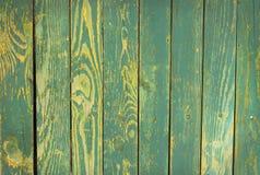 Textura de madeira de turquesa Fotos de Stock Royalty Free