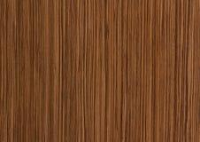 Textura de madeira de Zebrano, fundo da grão Foto de Stock Royalty Free