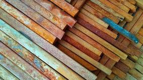 textura de madeira do coco arranjada ordenadamente para materiais de construção da casa imagem de stock royalty free