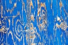 Textura de madeira do fundo do celeiro azul velho Foto de Stock Royalty Free