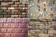 Textura de madeira, do metal e das telhas Fotos de Stock Royalty Free