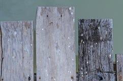 Textura de madeira do porto local Fotos de Stock