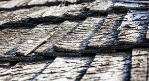 Textura de madeira do telhado do vintage velho Imagem de Stock