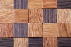 Textura de madeira dos cubos Foto de Stock Royalty Free