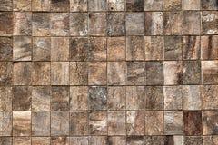 Textura de madeira dos tijolos com woodgrain decorativo imagem de stock