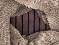 Textura de madeira e textura do fundo de matéria têxtil Foto de Stock Royalty Free