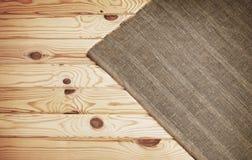 Textura de madeira e textura do fundo de matéria têxtil Imagem de Stock Royalty Free