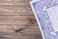 Textura de madeira e textura do fundo de matéria têxtil Fotografia de Stock