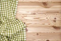 Textura de madeira e textura verde do fundo de matéria têxtil Fotografia de Stock Royalty Free