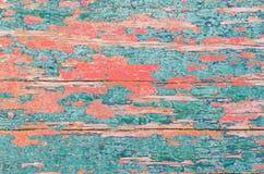Textura de madeira em coral vivo da cor fotografia de stock