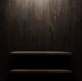 Textura de madeira escura do fundo Prateleira de madeira Imagens de Stock Royalty Free