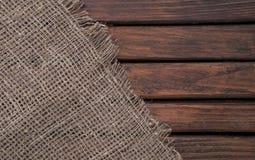 Textura de madeira escura e tela Matérias têxteis e madeira Textura de matéria têxtil Foto de Stock Royalty Free