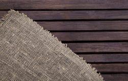 Textura de madeira escura e textura de matéria têxtil Foto de Stock Royalty Free