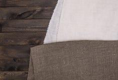 Textura de madeira escura e textura de matéria têxtil Imagens de Stock Royalty Free