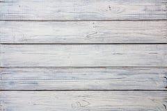 Textura de madeira gasto branca das pranchas Imagens de Stock Royalty Free