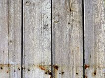 Textura de madeira natural com pintura lascada amarela Foto de Stock Royalty Free