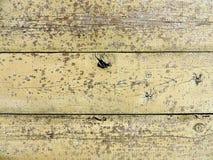 Textura de madeira natural com pintura lascada amarela Imagem de Stock Royalty Free
