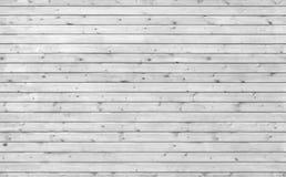 Textura de madeira nova branca do fundo da parede Imagem de Stock