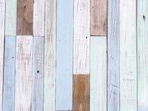 Textura de madeira pastel da parede Foto de Stock Royalty Free