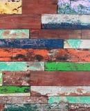 Textura de madeira pintada Fotografia de Stock