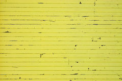 Textura de madeira pintada amarelo Fotos de Stock Royalty Free