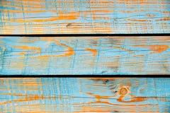 Textura de madeira pintada azul, fundo do vetor ilustração stock
