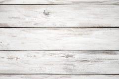 Textura de madeira pintada branco Imagens de Stock Royalty Free