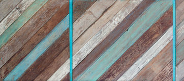 Textura de madeira pintada velha do fundo Fotos de Stock