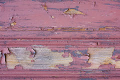 Textura de madeira pintada vermelha Fotografia de Stock