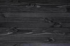 Textura de madeira preta Fotos de Stock Royalty Free