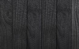 Textura de madeira preta tomando partido carbonizada fotos de stock royalty free