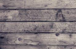Textura de madeira preto e branco velha Imagens de Stock