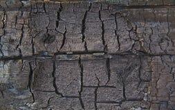 Textura de madeira queimada Imagens de Stock Royalty Free