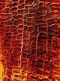 Textura de madeira quente ardente Fotografia de Stock Royalty Free