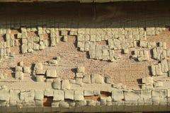 Textura de madeira rachada velha imagens de stock